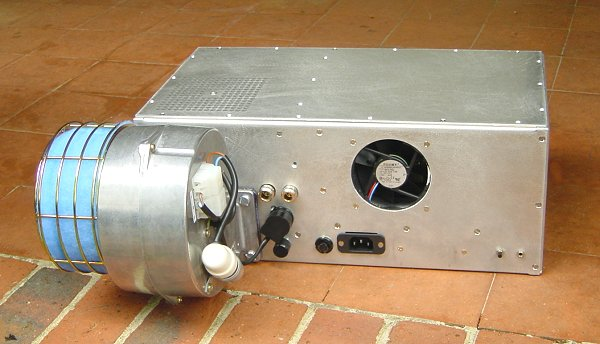 Back view of the finished amplifier