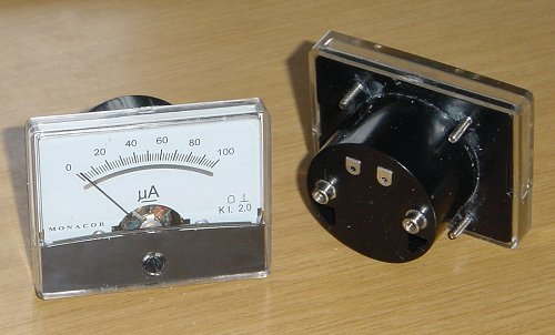 The two Monacor meters